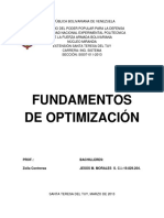 Fundamentos de Optimizacion