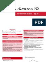 Manual Fujitsu Arrows NX F-01F