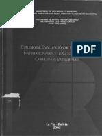 Estudio de Capacidades Institucionales y de Gestión de los Gobiernos Municipales (Bolivia, 2002)