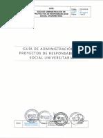Guía de Administración de Proyectos de Responsabilidad Social Universitaria v01