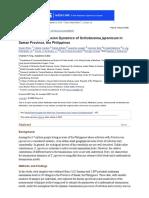 Multi-Host Transmission Dynamics of Schistosoma Japonicum in Samar Province, The Philippines