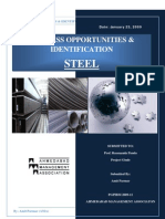 Steel Industry Business Op Port Unites and Identification