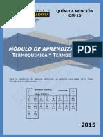 QM16 - Módulo de Aprendizaje N°5 - Termoquímica y Termodinámica