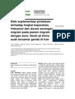 Efek Suplementasi Piridoksin Terhadap Tingkat Keparahan, Frekuensi Dan Durasi Serangan Migrain Pada Pasien Migrain Dengan Aura