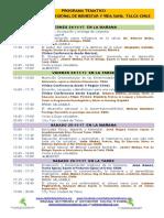 PROGRAMA TEMATICO 5° SEMINARIO DE BIENESTAR Y VIDA SANA, 24 Y 25-11-17