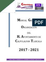 Manual General de Organizacion 2017-2021 Definitivo