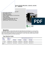 Datasheet Single Phase Capacitor Switching Solid State Relays