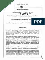 DECRETO 1877 DEL 17 DE NOVIEMBRE DE 2017