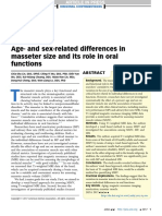 Age and Sex Related Differences Inmasseter Size and Its Role in Oral Function