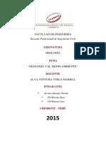 Informe MONOGRAFIA de Geologíadel Jhon