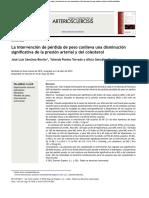 Perdida de Peso y Hta y Colesterol 2012