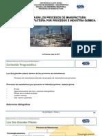 Tema II.2 Materia Prima en Los Procesos de Manufactura. Manufactura Por Procesos