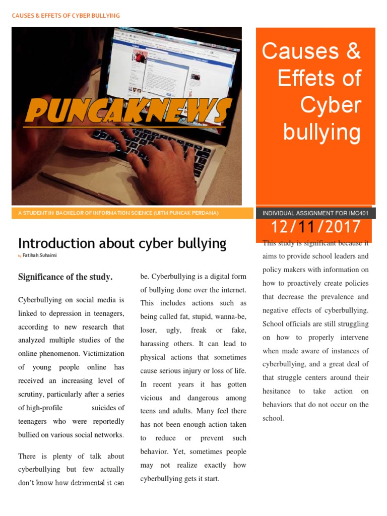 cyberbullying is a serious problem essay The dangers of cyberbullying is a serious problem for people their age so cyberbullying is not some insignificant problem experienced by few cyberbullying.