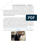 Pope's Letter to Obama