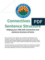 3. Improving Connectives and Sentence Structure - Parent Guide