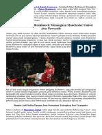 Comeback Zlatan Ibrahimovic Menangkan Manchester United Atas Newcastle