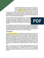 Revision Bibliografica sobre cambio climático y variabilidad climática