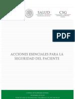 Acciones Esenciales Seguridad Paciente
