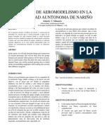 Proyecto de Aeromodelismo en La Universidad Auntonoma de Nariño