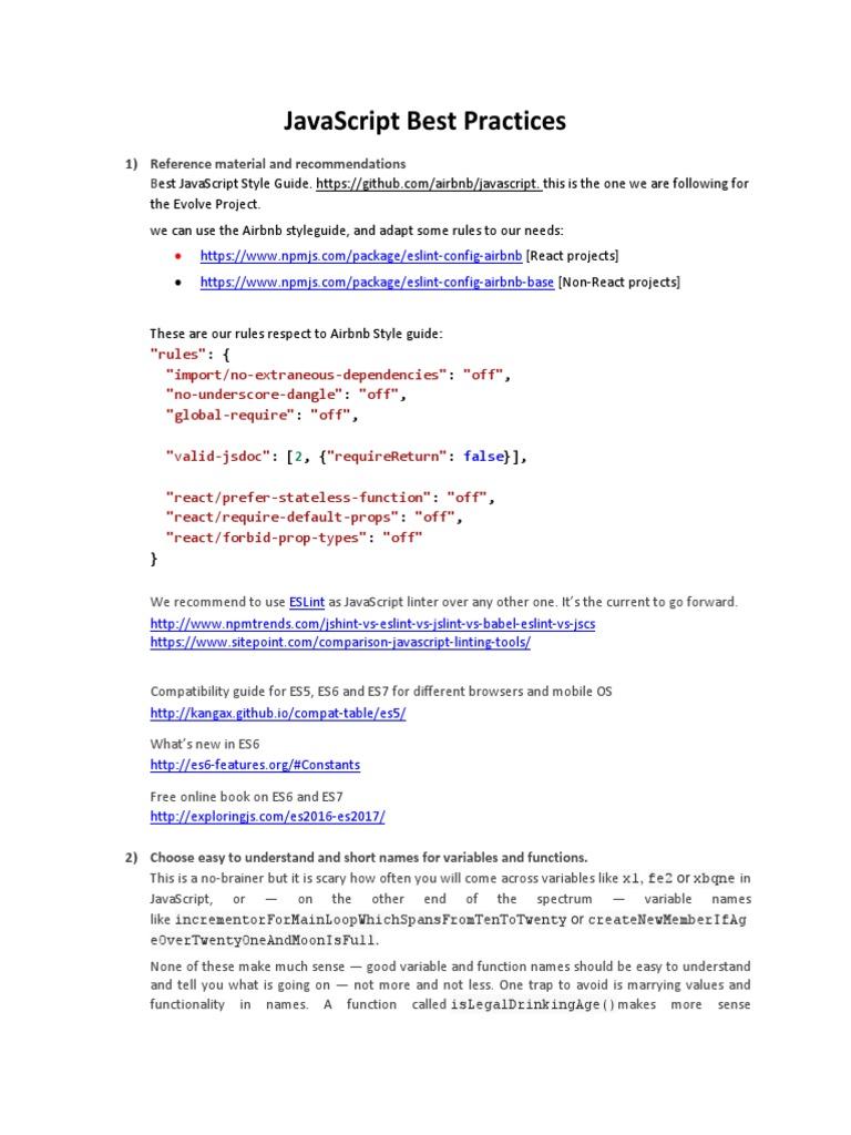 JavaScript Best Practices | Java Script | Namespace