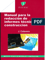 Manual para la redacción de Informes técnicos en construcción