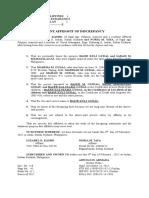 Aff. of Discrepancy-Sali