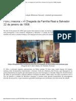 FBN _ História – a Chegada Da Família Real a Salvador 22 de Janeiro de 1808 _ Blogdabn