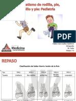 Traumatismo de rodilla, pie, tobillo y pie