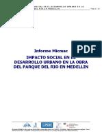 Rapport final Micmac - IMPACTO SOCIAL EN EL DESARROLLO URBANO EN LA OBRA DEL PARQUE DEL RIO EN MEDELLIN.doc