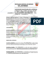 Contrato de Alquiler de Maquinaria Seca Con Operador