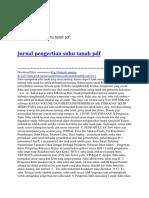 Jurnal Pengertian Suhu Tanah PDF
