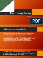 Electrocoagulación  David Turcio LUF