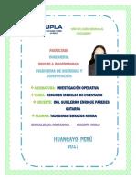 Resumen de Modelos de Inventario