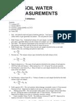 Soil Water Measurements