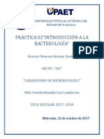 Práctica 02 - Introducción Bacteriana