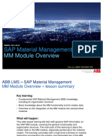 SAP MM Module Overview