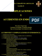 Leccion 21 - Accidentes y Complicaciones en Endodoncia