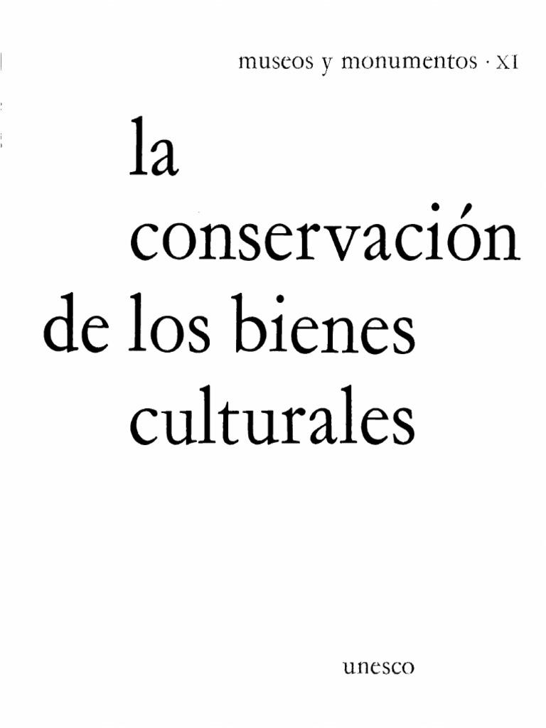 Conservación de los Bienes Culturales, UNESCO..pdf