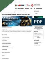 Operador de Camión Minero (Volquete) - Instituto ITEP