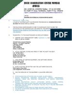 Questionanaire EPIRB Distress Sample