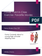 power point in class exercise- favorite movies