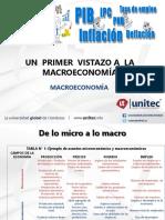 CLASE 1 Primer Vistazo a La Macroeconomia