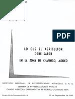 Lo Que El Agricultor Debe Saber en La Zona de Chapingo Mexico No. 11