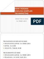 Perdana Tim Komplain & Marketing