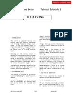 Bulletin 3 - Defrost