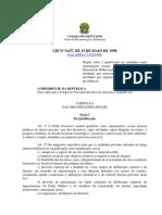 Lei-9637-98 - LEi Das OS Organizações Sociais