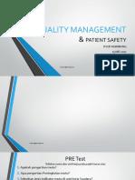 Quality Management Dan Patient Safety