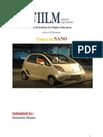 10936755 Marketing Research Project Report Tata NANO