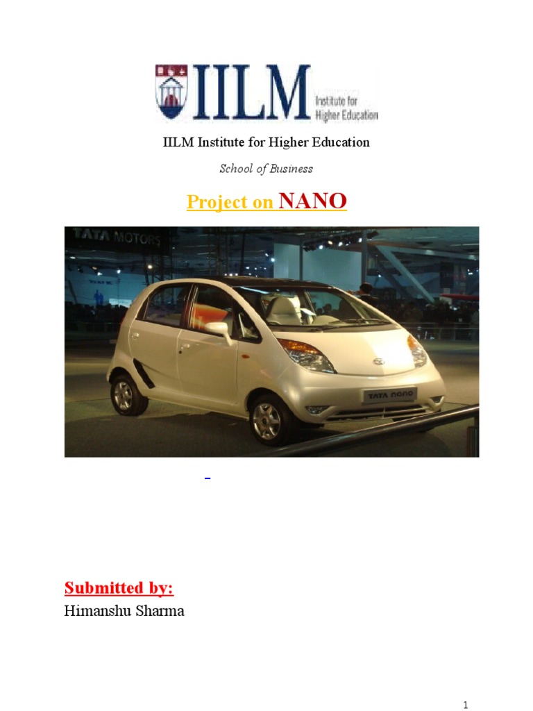 tata nano market entry report Tata's nano famously promised to bring the report: toyota working on $5,000 the news of toyota's entry into the super-budget market comes from the.
