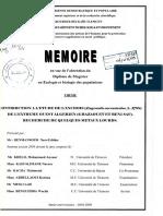 CONTRIBUTION A L'ETUDE DE L'ANCHOIS DE L'EXTRÊME OUEST ALGÉRIEN
